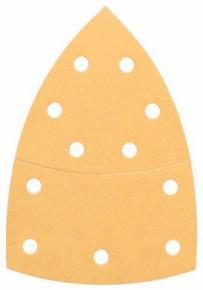 10-dielna súprava brúsnych listov 102 x 62, 93 mm, zrnitosť 80