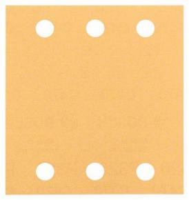 10-dielna súprava brúsnych listov 115 x 107 mm, zrnitosť 40