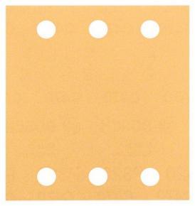 10-dielna súprava brúsnych listov 115 x 107 mm, zrnitosť 80