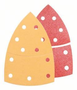 25-dielna súprava brúsnych listov 102 x 62, 93 mm, 3x40, 6x80, 3x120, 3x180, 2x4