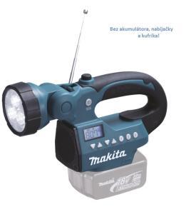 Aku rádio / LED svietidlo Makita DMR050 - bez akumulátora, nabíjačky