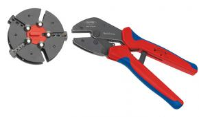 Lisovacie kliešte Knipex MultiCrimp® s výmenným zásobníkom