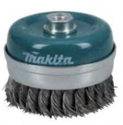 Miskovitá kefa Makita z oceľového drôtu - spletaný drôt