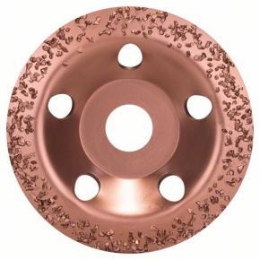 Miskovitý brúsny kotúč so zrnom z tvrdého kovu 115 x 22,23 mm; jemný, šikmý