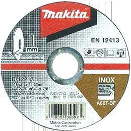 Tenký rezný kotúč na nerez Makita B-12217