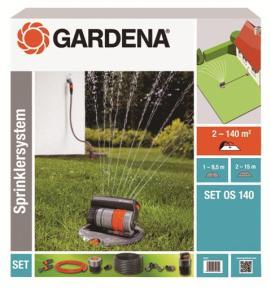 Výsuvný štvorplošný zadažďovač Gardena OS 140 - sada