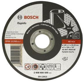 Rovný rezací kotúč na nehrdzavejúcu oceľ (Inox) AS 46 T INOX BF, 125 mm, 22,23 m