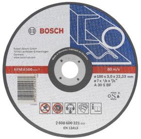 Rovný rezací kotúč na kovy A 30 S BF, 180 mm, 22,23 mm, 3 mm