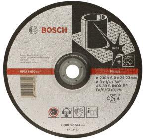 Brúsny kotúč s prelisom na nehrdzavejúcu oceľ (Inox) AS 30 S INOX BF, 180 mm, 22