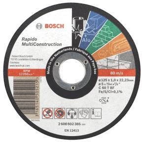 Rovný rezací kotúč Multi Construction 125 mm, 22,23 mm, 1,6 mm