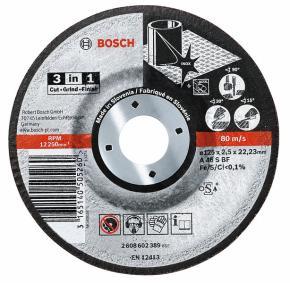 Rezací kotúč 3 v 1 A 46 S BF, 115 mm, 22,23 mm,  2,5 mm