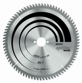 Pílový kotúč Optiline Wood 254 x 30 x 2,5 mm, 80