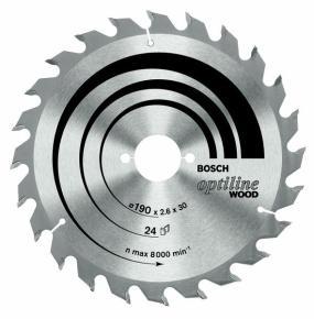 Pílový kotúč Optiline Wood 160 x 20/16 x 2,6 mm, 24
