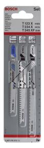 3-dielna súprava pílových listov do priamočiarych píl T 123 X; T 234 X; T 345 XF