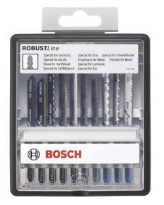 10-dielna súprava pílových listov do priamočiarych píl Robust Line Top Expert, s