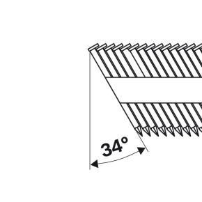 Klinec s hlavičkou v tvare písmena D SN34DK 50RHG 2,8 mm, 50 mm, feuerverzinkt,