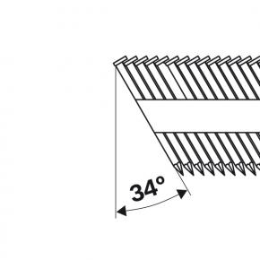 Klinec s hlavičkou v tvare písmena D SN34DK 65RHG 2,8 mm, 65 mm, feuerverzinkt,