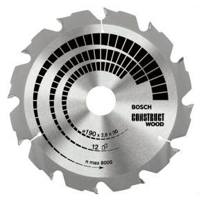 Pílový kotúč Construct Wood 180 x 30/20 x 2,6 mm, 12