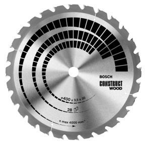 Pílový kotúč Construct Wood 400 x 30 x 3,5 mm, 28