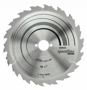 Pílový kotúč Speedline Wood 210 x 30 x 2,6 mm, 18