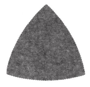Leštiaci filc tvrdej, 93 mm
