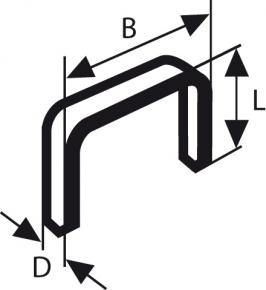 Sponka z jemného drôtu, typ 53 11,4 x 0,74 x 8 mm
