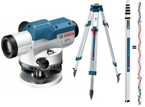 Nivelačný prístroj Bosch GOL 26 D so statívom BT 160 a meracou latou GR 500 - 061599400E